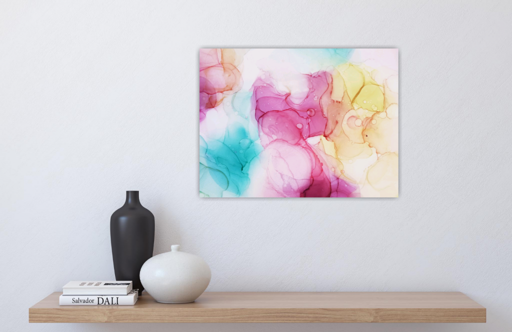 Inner guidance - alcohol ink canvas print